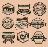 Racing insignia Royalty Free Stock Photography