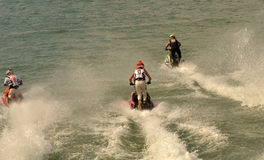 Racing jet skis Stock Photo