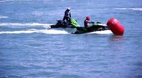 Racing of jet skis Royalty Free Stock Image