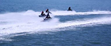 Racing of jet skis Stock Image