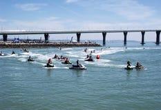 Racing of jet skis Stock Photo