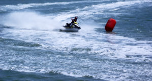 Racing of jet skis Royalty Free Stock Images