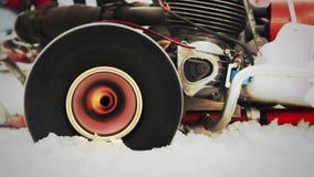 Racing kart Wheelslip with loud engine sound stock video
