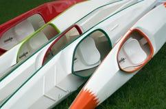 Racing kayaks Stock Photography