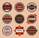 Racing labels - vintage style Stock Photos