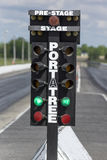 Staging lights. Napierville dragway, canada - may 18, 2014 picture of official racing lights at the track during special mustang event royalty free stock image