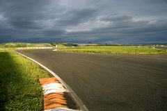 Racing line. Royalty Free Stock Images