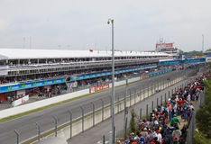 Racing line before beginning Royalty Free Stock Photo