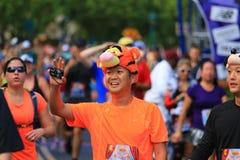 Racing the marathon Royalty Free Stock Image