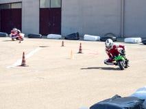 Racing mini motorbikes Stock Photos