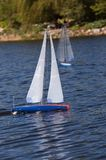 Racing Model Sailboats Stock Photo