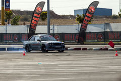 Racing modified old BMW drifting Stock Images