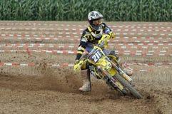 Racing motocross driver Stock Photos