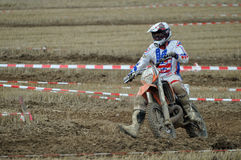 Racing motocross driver Royalty Free Stock Images