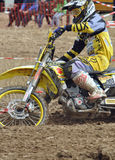 Racing motocross driver Royalty Free Stock Photo