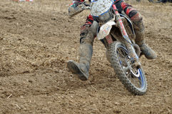 Racing motocross driver Stock Photography