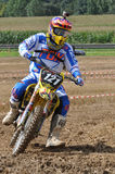 Racing motocross driver Stock Photo