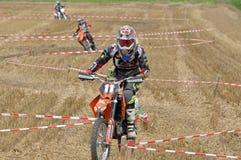 Racing motocross driver Royalty Free Stock Photos