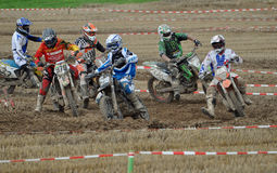 Racing Motocross drivers Royalty Free Stock Images