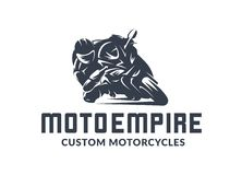 Free Racing Motorcycle Logo On White Background. Royalty Free Stock Photography - 130254087