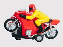 Racing motorcycle model toy / Isolated white Stock Images