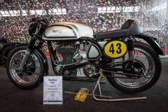 Racing motorcycle Norton Manx, 1951. Stock Photos