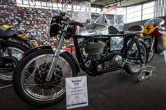 Racing motorcycle Norton Manx, 1958. Royalty Free Stock Images