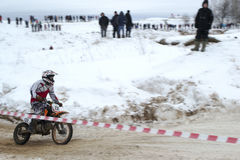 Racing motorcycle in winter Stock Image