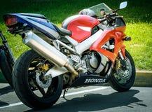 Racing motorcycles Stock Image