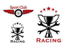 Racing and motorsport symbols or icons Royalty Free Stock Photography