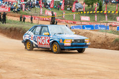 Racing old car in srilanka Stock Images