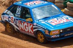 Racing old car in srilanka Royalty Free Stock Photo