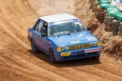 Racing old car in srilanka Stock Photo