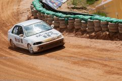 Racing old cars in srilanka Stock Photo