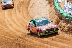 Racing old cars in srilanka Stock Photography