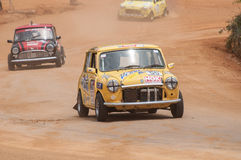 Racing old minicooper in srilanka Stock Images