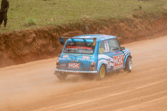 Racing old minicooper in srilanka Royalty Free Stock Photo