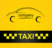 Racing orange background, taxi cab cover template. Royalty Free Stock Photo