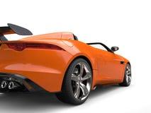 Racing orange modern luxury sports car - rear wheel closeup shot Royalty Free Stock Photos