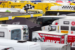 Racing paddocks Royalty Free Stock Image