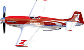 Racing Plane. A Las Vegas racing plane in the air Stock Photography