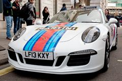 Racing Porsche in Regent Street Royalty Free Stock Images