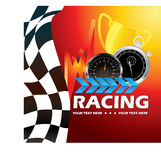 Racing poster. Beautiful illustration which can be used for racing event Stock Images