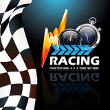 Racing poster. Beautiful illustration that can be used for racing event Stock Photos