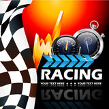 Racing poster. Beautiful illustration that can be used for the racing event Royalty Free Stock Photography