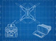 Racing quadcopter royalty free illustration