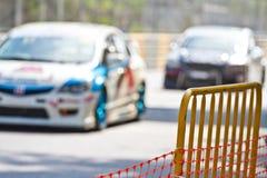 Racing on the racetrack Stock Photos