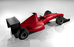 Racing render car Royalty Free Stock Photo