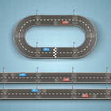 Racing on the road. Art. Vector illustration Stock Photos