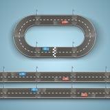 Racing on the road. Art. Vector illustration royalty free illustration